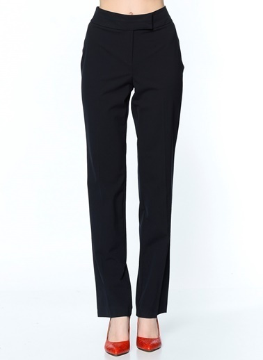 Random Bol Paça Kumaş Pantolon Lacivert